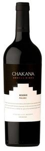 Chakana Reserve Malbec 2010, Mendoza Bottle