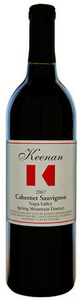 Keenan Cabernet Sauvignon 2007, Spring Mountain District, Napa Valley Bottle