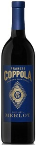 Francis Coppola Diamond Collection Blue Label Merlot 2009, California Bottle