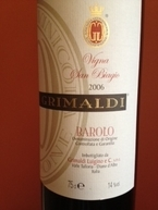 Barolo 2006 Bottle