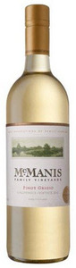 Mcmanis Family Pinot Grigio 2011, California Bottle