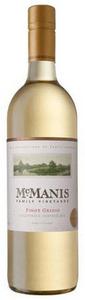 Mcmanis Family Pinot Grigio 2011, California Bottle
