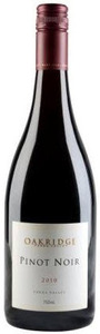 Oakridge Pinot Noir 2010, Yarra Valley, Victoria Bottle