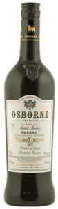 Osborne Pedro Ximenez 1827 Very Sweet Sherry, Do Jerez Xérès Sherry Bottle