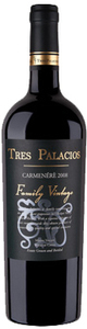 Tres Palacios Family Vintage Cabernet Sauvignon 2008, Fundo Santa Eugenia De Cholqui Vineyard, Cholqui Valley, Maipo Valley Bottle