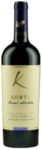 Korta Barrel Selection Reserve Petit Verdot 2010, Lontué Valley Bottle