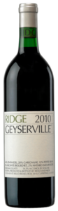 Ridge Geyserville 2010, Sonoma County Bottle