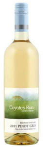 Coyote's Run Red Paw Vineyard Pinot Gris 2011, VQA Four Mile Creek, Niagara Peninsula Bottle