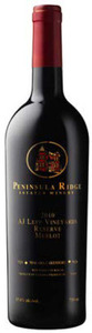 Peninsula Ridge A.J. Lepp Vineyards Reserve Merlot 2010, VQA Niagara Lakeshore Bottle