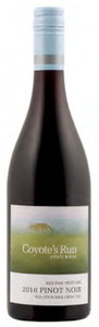 Coyote's Run Red Paw Vineyard Pinot Noir 2010, VQA Four Mile Creek, Niagara Peninsula Bottle