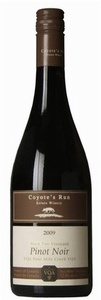 Coyote's Run Black Paw Vineyard Pinot Noir 2009, VQA Four Mile Creek, Niagara Peninsula Bottle