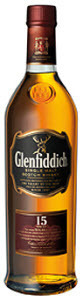 Glenfiddich Single Malt 15 Years Old Bottle
