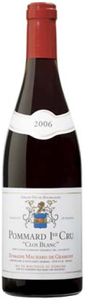 Domaine Machard De Gramont Pommard Clos Blanc 1er Cru 2008, Ac Bottle