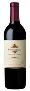 Kendall Jackson Vintner's Reserve Zinfandel 2010, Mendocino County Bottle