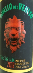Negrar Novello Del Veneto 2012 Bottle