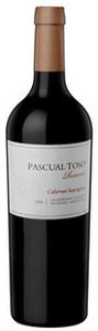 Pascual Toso Reserve Barracas Vineyards Cabernet Sauvignon 2009, Mendoza Bottle