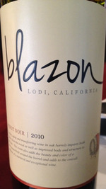Blazon Pinot Noir 2010, Lodi Bottle