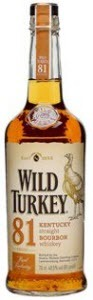 Wild Turkey 81 Proof Kentucky Straight Bourbon Bottle