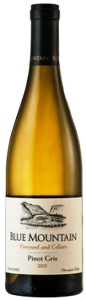 Blue Mountain Pinot Gris 2011, Okanagan Valley Bottle