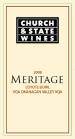 Church & State Coyote Bowl Series Meritage 2008, Okanagan Valley Bottle