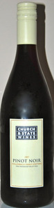 Church & State Pinot Noir Hollenbach 2009, BC VQA Okanagan Valley Bottle
