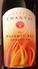 Chateau Chantal Naughty Red Bottle