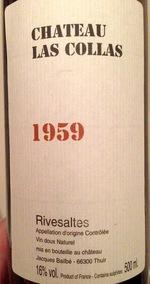 Château Las Collas Rivesaltes 1959 1959 Bottle
