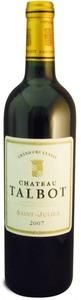 Château Talbot 2007, Ac St Julien Bottle
