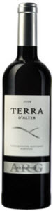 Terra D'alter Arg Aragones 2009, Vinho Regional Alentejano Bottle