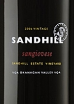 Sandhill Small Lots Sangiovese 2009, VQA Okanagan Valley, Sandhill Estate Vineyard Bottle