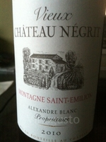 Vieux Chateau Negrit 2010 Bottle