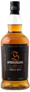 Springbank 10 Year Old Campbeltown Single Malt Scotch Whisky Bottle