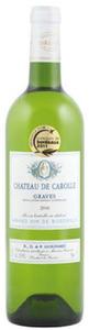 Château De Carolle Blanc 2010, Graves Bottle