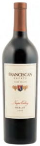Franciscan Estate Merlot 2008, Napa Valley Bottle