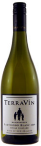 Terravin Single Vineyard Sauvignon Blanc 2009, Marlborough, South Island Bottle