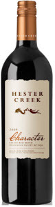 Hester Creek   Character Red 2011, BC VQA Okanagan Valley Bottle