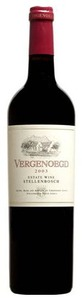 Vergenoegd Estate Shiraz 2003, Wo Stellenbosch Bottle