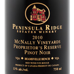 Peninsula Ridge Mcnally Vineyards Proprietor's Reserve Pinot Noir 2010, VQA Beamsville Bench, Niagara Peninsula Bottle