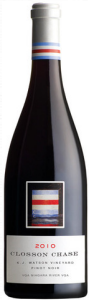 Closson Chase Pinot Noir K.J. Watson Vineyard 2010, Niagara River Bottle