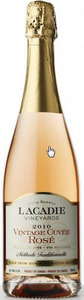 L'acadie Yineyards Vintage Cuvee Rose, Traditional Method 2010, Annapolis Valley Bottle