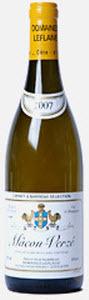 Macon Verze   Domaine Leflaive 2009 Bottle