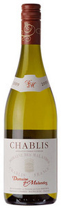 Domaine Des Malandes 2011, Chablis Bottle