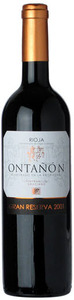 Ontanon Gran Reserva 2001 Bottle