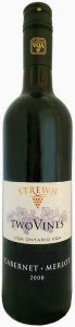 Strewn Two Vines Cabernet Merlot 2008, VQA Niagara Bottle