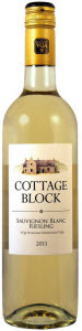 Cottage Block Sauvignon Blanc Riesling 2012, Niagara Peninsula Bottle