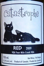 Cattail Creek Catastrophe Red 2009,  VQA  Bottle