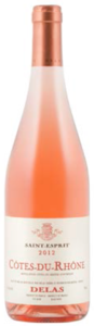 Delas Frères Saint Esprit Côtes Du Rhône Rosé 2012, Ac Bottle