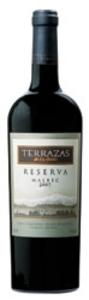 Terrazas De Los Andes Malbec Reserva 2007, Mendoza Bottle