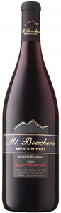 Mt. Boucherie Summit Reserve Blaufrankisch 2009, BC VQA Okanagan Valley Bottle