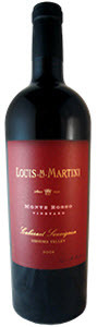 Louis Martini Monte Rosso Sonoma Cabernet Sauvignon 2008, Sonoma Valley Bottle
